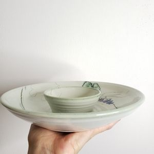 Other - Dragonfly Hand Thrown Clay Dip Pottery Bowl